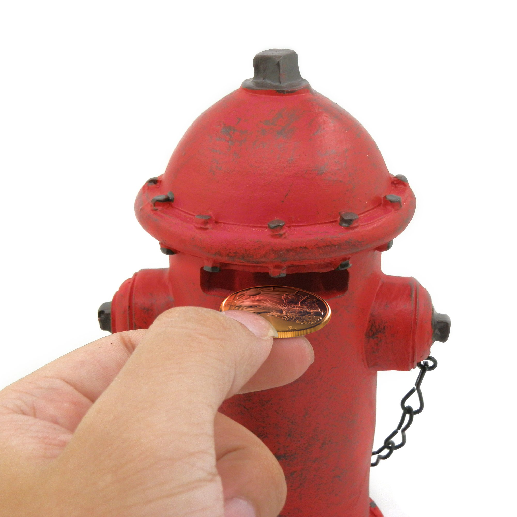 ornerx Fire Hydrant Money Box Resin Piggy Bank