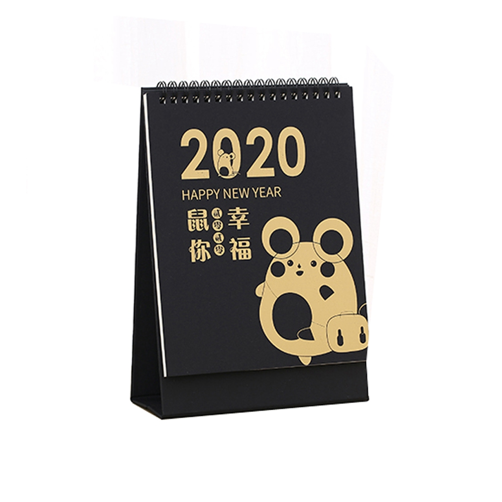 Ornerx 2020 Desk Calendar New Year Monthly Schedule Cute Cartoon Mouse