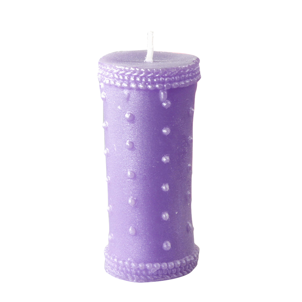 Ornerx Purple Pearl Pillar Candles for Wedding Supplies Set of 8