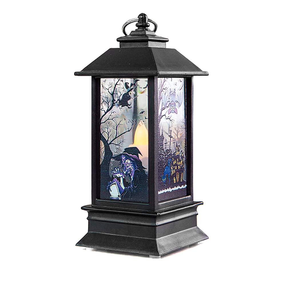 "ornerx 5"" Witch Decorative Lantern for Halloween Party"