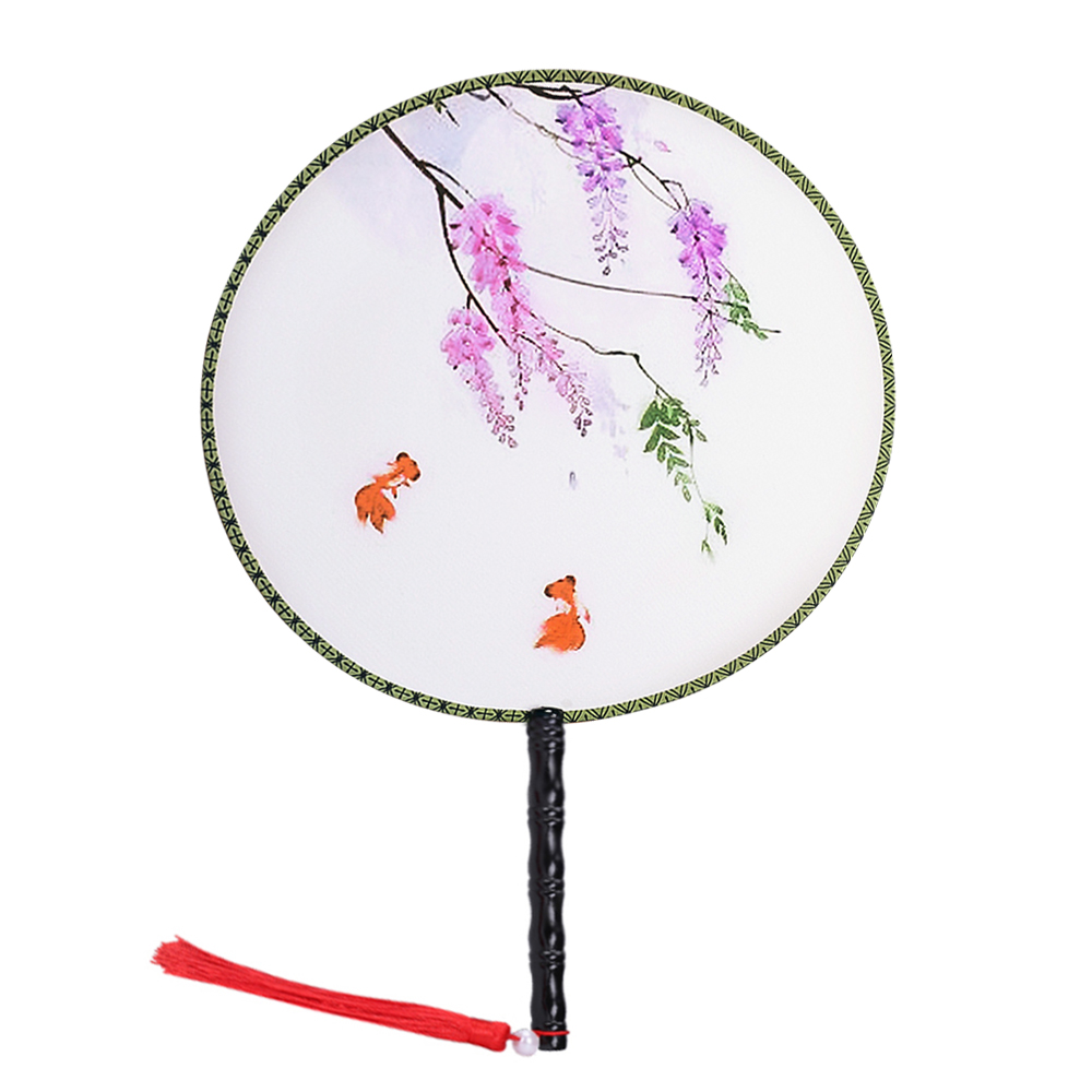"Onerx Chinese Hand Held Fan For Women 14.6""x9.4"""