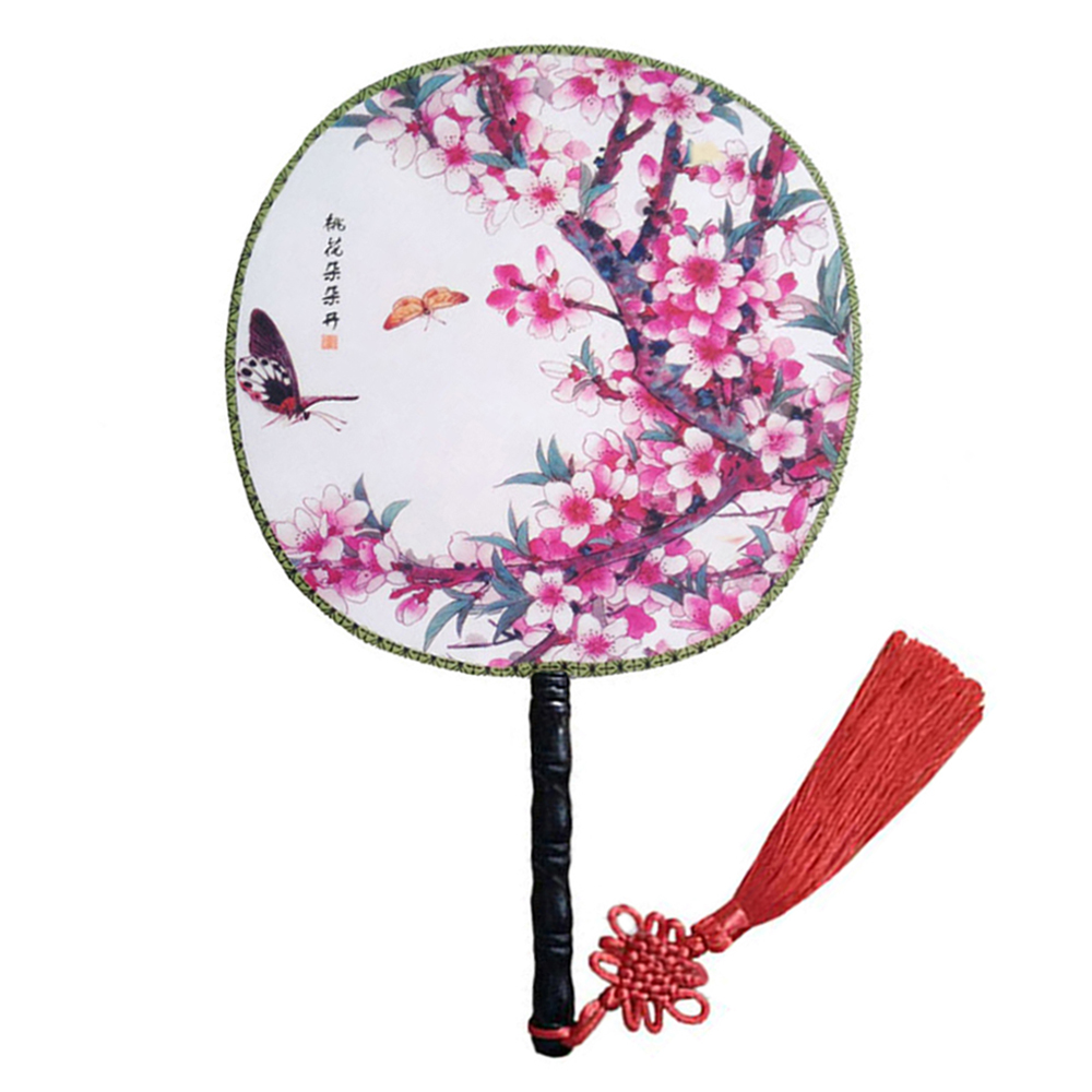 Onerx Round Hand Fan Chinese Decoration For Women