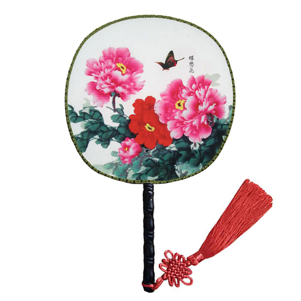 Onerx Round Hand Fan Chinese Decoration For Wedding