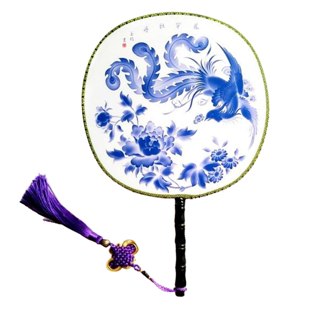 "Onerx Hand Fan Oriental Decorations Gifts For Women 9.4""x14.2"""