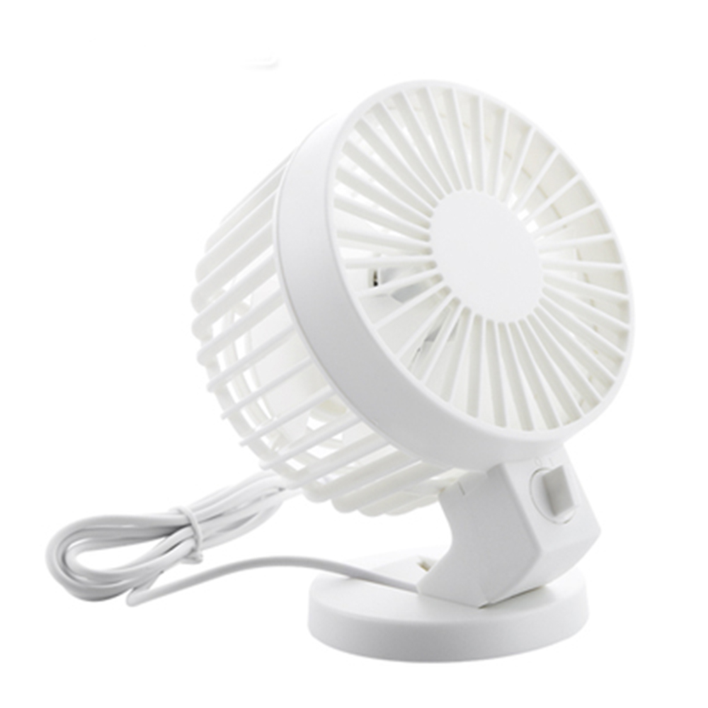 Ornerx Quiet USB Fan White For Desk Laptop