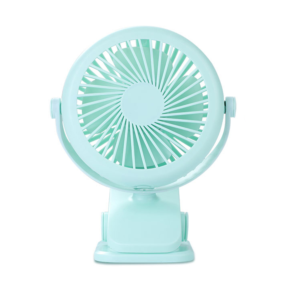 Ornerx Portable USB Fan Clip Green For Desk Laptop