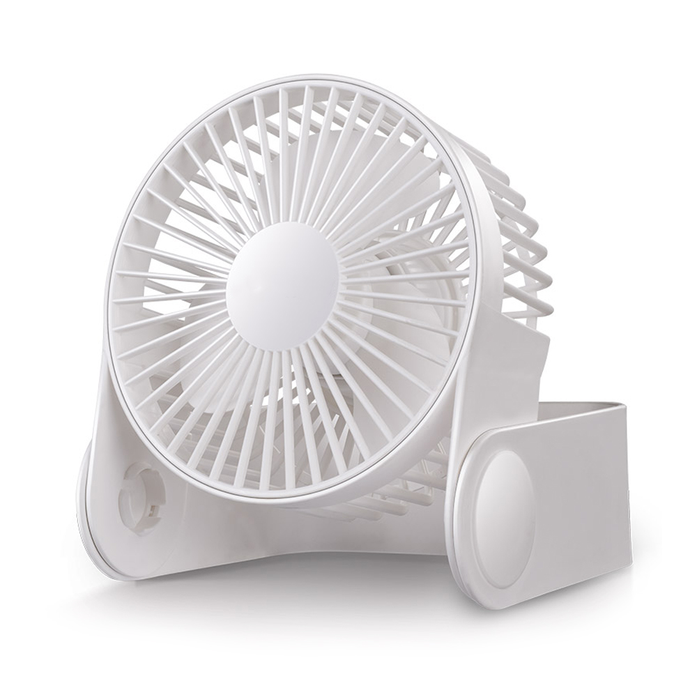 Ornerx Portable USB Fan White Direction Adjustable High Air Flow For Desk