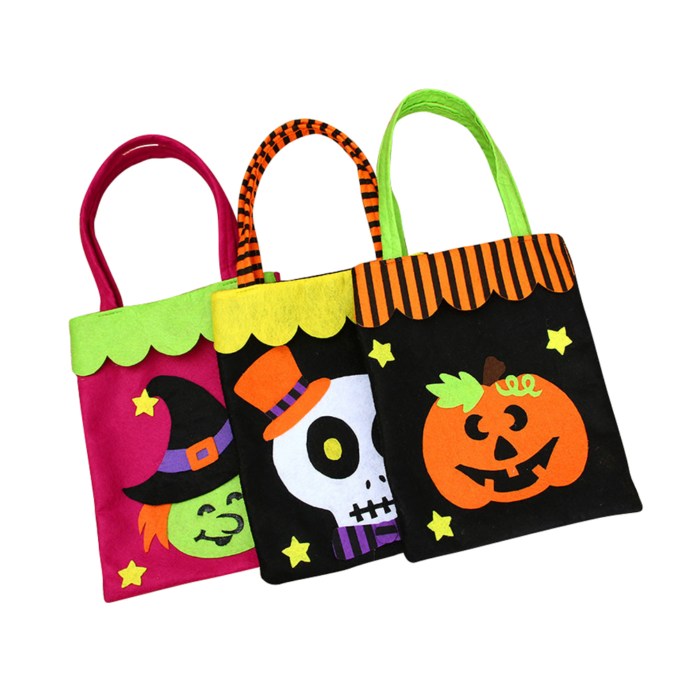 Ornerx Halloween Trick or Treat Candy Bag for Kids Pack of 3