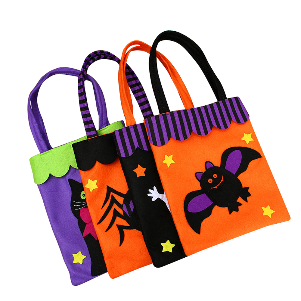 Ornerx Halloween Trick or Treat Candy Bag for Kids Pack of 4