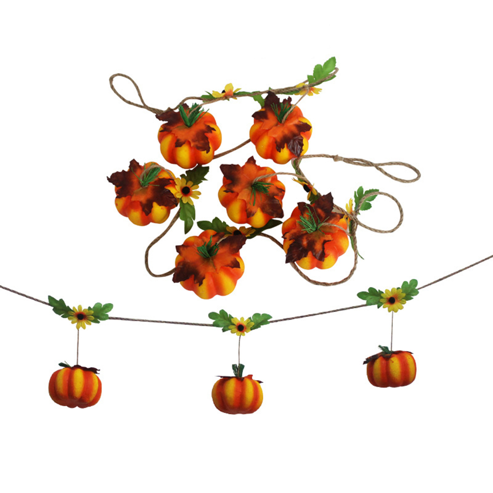Ornerx Halloween Hanging Ornaments Pumpkin String Party Props 5.8ft