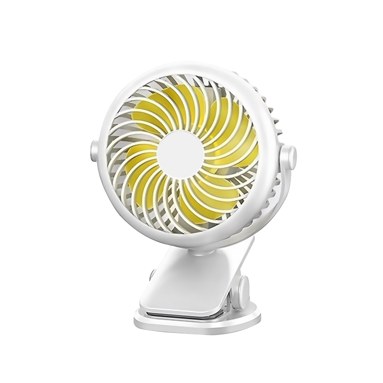 ornerx Cooling Desk Fan USB Powered with Clip White