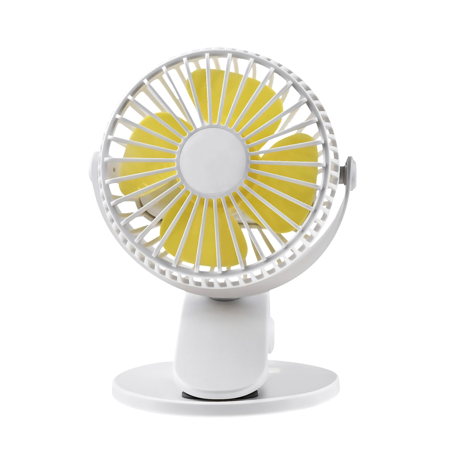 ornerx USB Desk Fan with Clip Direction Adjustable White