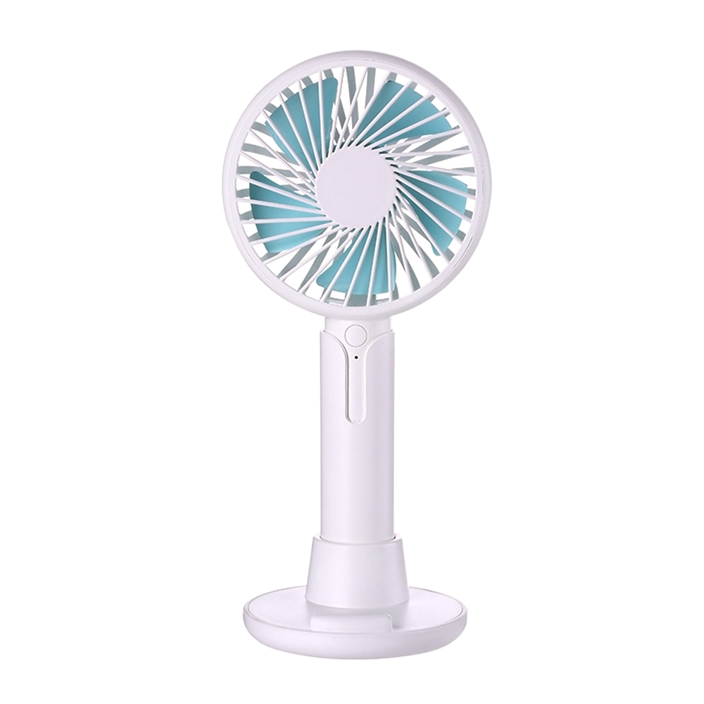 ornerx Handheld Rechargeable Desk Fan USB with Base White