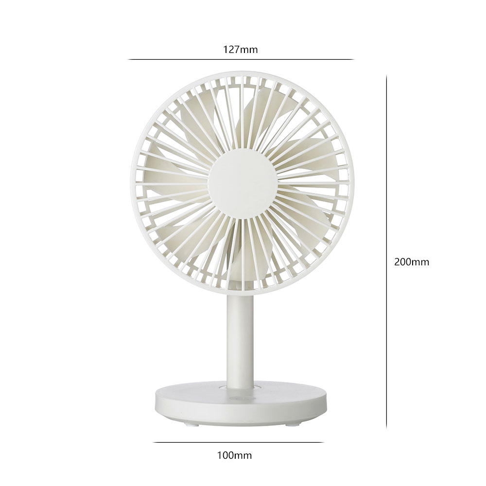 ornerx USB Desk Fan Personal Cooler USB Powered White